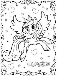 Small Picture My Little Pony Cadance Coloring Page My Little Pony Coloring Pages