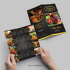 Restaurant Menu Book Design Restaurant Menu Book Fold Brochure Template