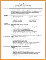 Janitor Resume Sample Janitorial Resume Examples Examples of Resumes 22