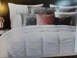 nicole miller duvet cover king comforter set bed sets printed sateen in grey velvet