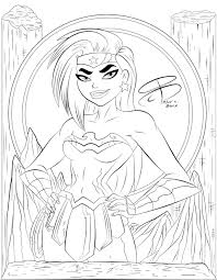 62 wonder woman pictures to print and color. Coloring Pages Wonder Woman By Rcbrock On Deviantart