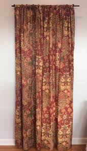 pottery barn clara burnt red rust fl ds curtain panels set of 2 50x96 ds curtains