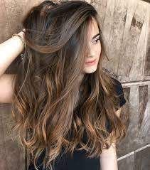 Balayage Dark Brown Long Hairstyles 38