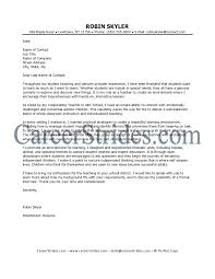 Cover Letter Format For Substitute Teacher Tomyumtumweb Com
