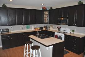 dark stained kitchen cabinets.  Kitchen The Gallery Dark Stained Kitchen Cabinets Trend On E