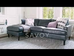 urban barn savoy custom leather sofa