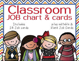The Brainy Bunch Classroom Helpers Jobs Clip Chart