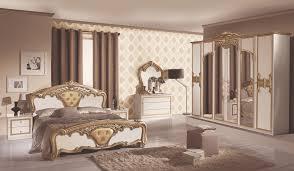 Schlafzimmer Set Elisa 7 Teilig In Schwarz Gold 180x200 Cm Mit