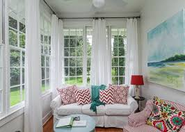 House of Turquoise- such a bright and colorful sunroom.