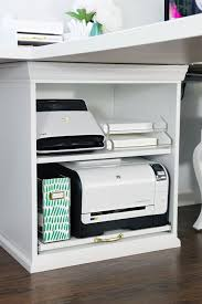 ikea office supplies. IHeart Organizing: IKEA STUVA Printer Cart Hack - With Pullout Shelf For More Ikea Office Supplies I