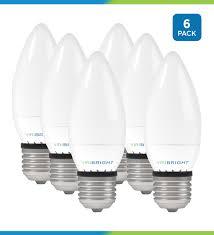 40 Watt Equivalent Chandelier Led Light Bulb E26 Medium Base Dimmable Pack Of 6
