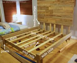 how to build a custom king size bed frame via thinkingcloset com