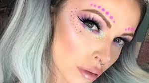 easy festival makeup tutorial unicorn makeup look