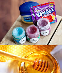 mix vaseline kool aid powder and honey for a sweet and fruity lip