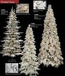 Artificial Flocked Christmas TreesSlim Flocked Christmas Trees Artificial