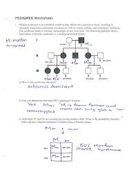 Pedigree Chart Worksheet With Answer Key Autosomal Pedigree Worksheet Worksheet Fun And Printable