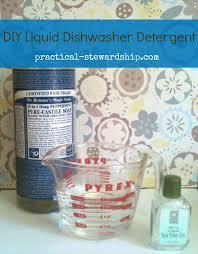 homemade dishwasher cleaner. DIY Liquid Dishwasher Detergent @ Practical-stewardship.com Homemade Cleaner