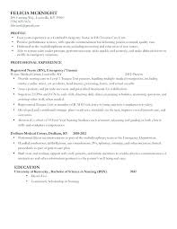 Examples Of Nursing Resumes Cool Examples Of Nursing Resume Kappalab