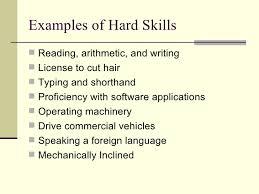 Example Of Hard Skills