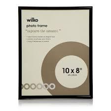 wilko 10 x 8 inch black easy photo frame image 1