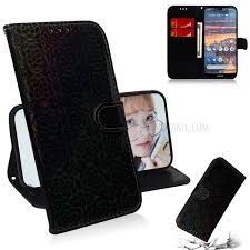 Stylish <b>Pure Color</b> Shiny <b>Leather</b> Wallet Stand Case for <b>Nokia</b> 4.2 ...