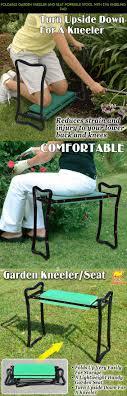 foldable garden kneeler and seat portable stool with eva kneeling