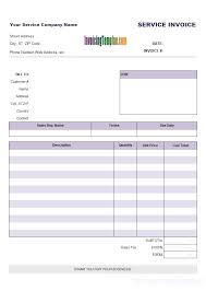 excel service service invoicing template in excel