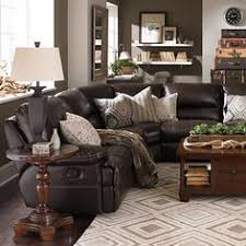 leather couches living room. Love The Grays With Dark Leather, Weathered Wood Door, And White Floating Shelves. Leather Couch SectionalLiving Couches Living Room