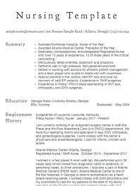 Examples Of Registered Nurse Resumes Emelcotest Com