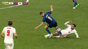 red card for Jack Grealish foul ...