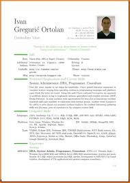 4 English Cv Example Uk Resume Pictures Cv Chronological Cv For