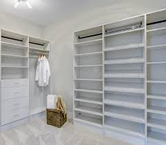 empty walk in closet. Download Empty Walk-in Closet With Open Shelves Stock Photo - Image Of , Walk In