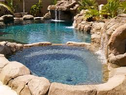 Rock and Tropical Look Swimming Pool
