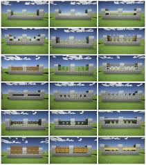 Minecraft fence design Paper Models Pinterest Fences