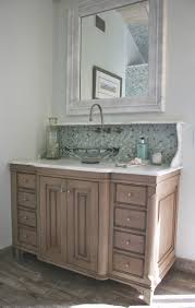 antique bathroom vanities minnesota. furniture wonderful beach house bathroom vanity with wall mounted pull down faucet on glass mosaic tile backsplash and decorative vessel sinks also antique vanities minnesota