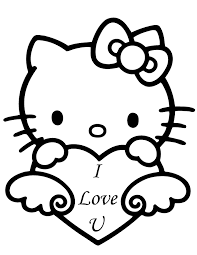 Small Picture hello kitty valentines day coloring sheets Hello Kitty