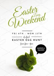 Easter Template Easter Long Weekend Template With Grass Easter Bunny Easil