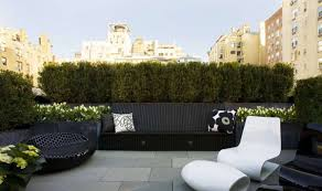 rooftop furniture. Roof Terrace Design With Modern Furniture And Hedges Rooftop S