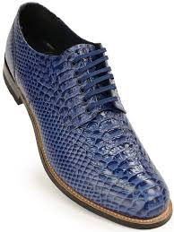 stacy adams mens blue leather snakeskin lace up dress shoe 100 satisfaction