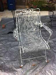 painting wrought iron furniture. Restoring Wrought Iron Chairs. Notice The Grey Paint That\u0027s Peeling To Reveal Original White. Painting Furniture