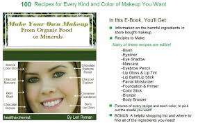 make your own makeup with organic food or minerals