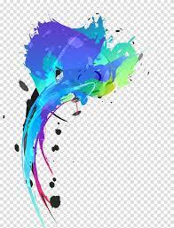 Splash Design Color Ink Splash Desktop Blue Design Transparent Background