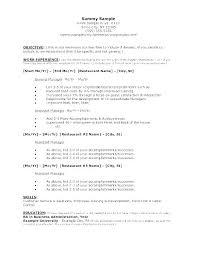 resume sample for restaurant server sample restaurant server resume bitacorita