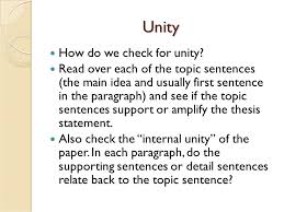 the unity of an essay unity unity refers to each part of the  3 unity