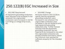 Nec 250 122 Chart 2014 Nec Code Changes Class Part Iv Ppt Download