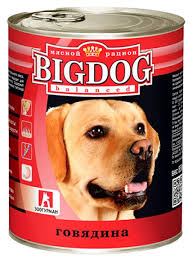 Купить <b>консервы</b> для собак <b>ЗООГУРМАН Big Dog</b>, говядина, 850г ...