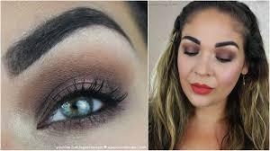 chocolate brown smokey eye full face makeup tutorial
