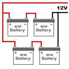 battery bank wiring diagrams 6 volt 12 volt series and how to connect 8 12v batteries to make 48v at 12 Volt Battery Bank Wiring Diagram