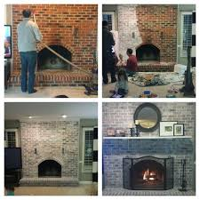 fireplace whitewashed 43 project and looks so much better done in less than 3