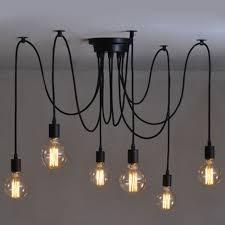 pendant lighting edison. Vintage 6 Heads Industrial Ceiling Edison Lamp Light Chandelier Pendant Lighting